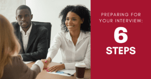 Preparing for Your Interview: Six Steps